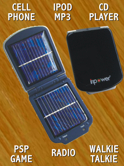 InPower Solar Chargers for your Cell, IPOD, MPS, CD Player, Game Player and more! Put the Power in Your Pocket!