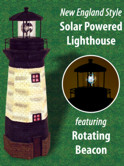 Check out the New Solar Powered Lighthouse with Rotating Beacon